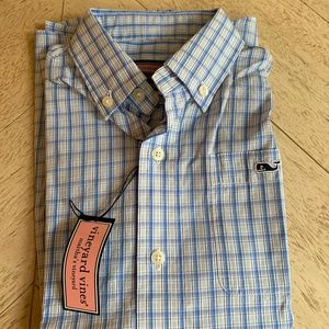 NWT Vineyard Vines Yellow/Blue buttondown (6)